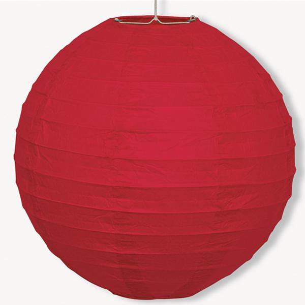 Papier-Lampion, in rot, 25,4cm, Raumdekoration, mit Schnur
