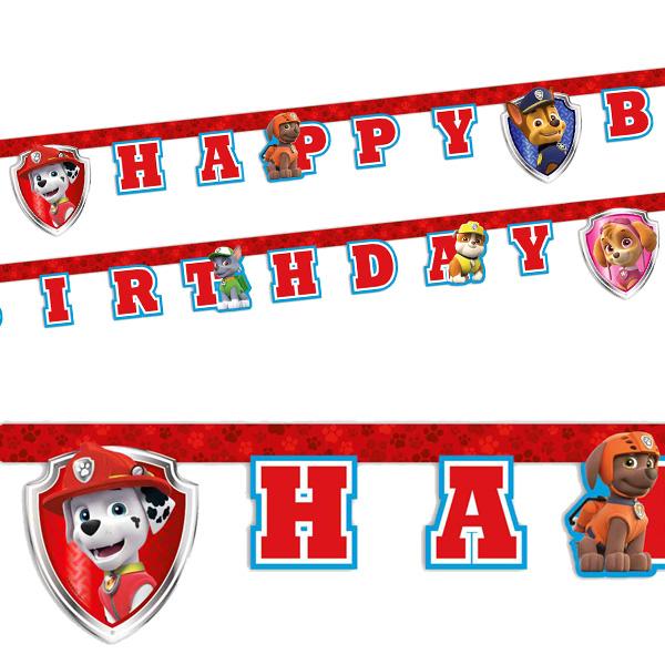 Paw Patrol Buchstabenkette, 2m lang, Happy Birthday