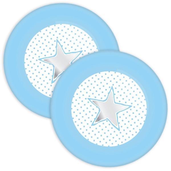 Baby Boy Teller mit Stern für Feier zur Geburt eines Jungen, 8 Stk., Pappe