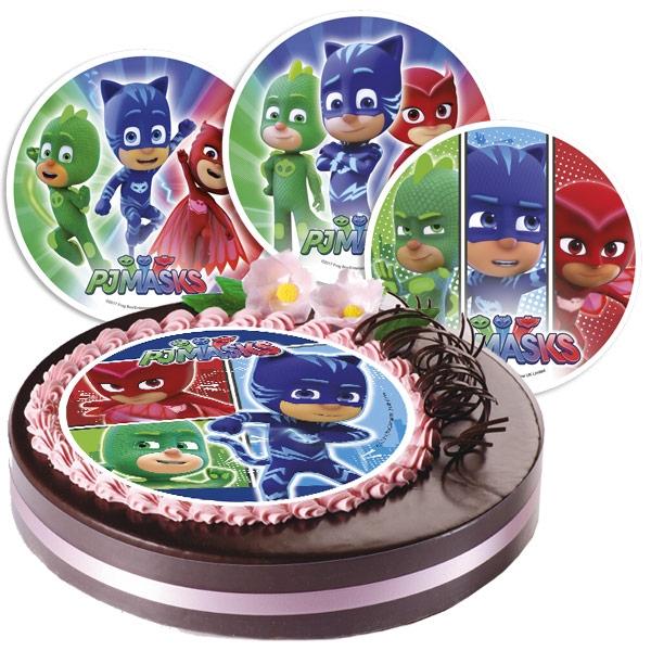Tortenauflage für PJ Mask Geburtstag Torte, 1 Stück