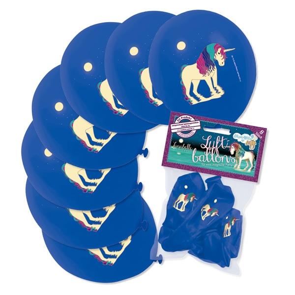 Einhorn Lunabelle Luftballons im 8er Pack für Einhornparty Dekoration