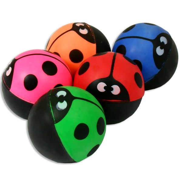 Marienkäfer Flummiball 1 Stück, 3cm, Hüpfball in verschiedenen Farben