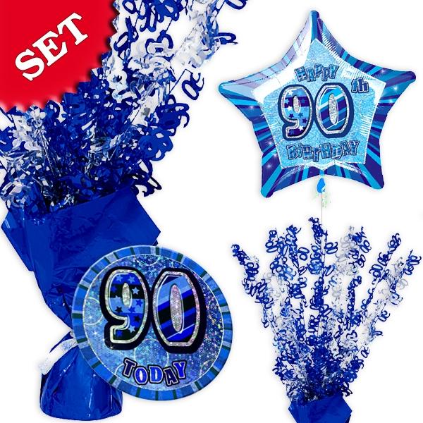Partyset zum 90. Geburtstag - blau