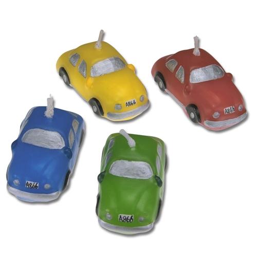 Auto Figurenkerzen für Ihre Cars-Mottotorte, 4 Stück pro Packung, 4cm