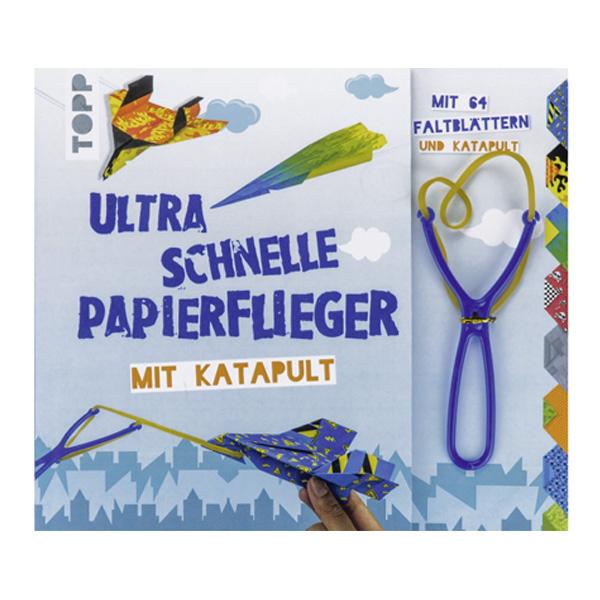 Papierflieger-Bastelbuch mit Katapult und 64 Faltblättern