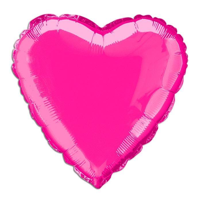 Folienballon als Herz pink, 35 cm, einfach traumhaft schön, 1 Stück