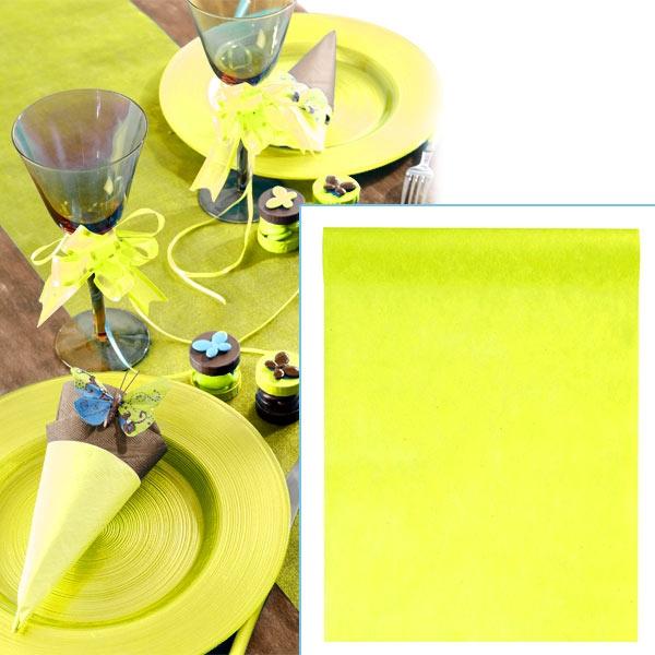 Tischläufer gelb, 10m x 30cm, Vliesläufer als feierliche Tischdeko