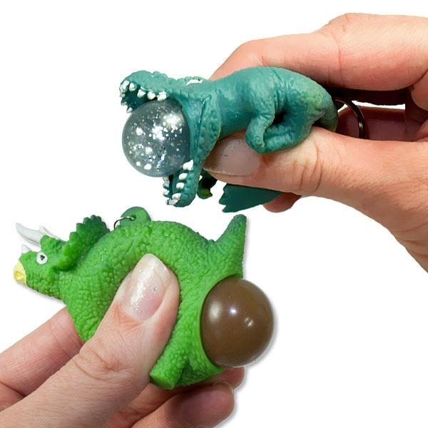 Squeeze Dino Schlüsselanhänger, 1 Stk, 6,5cm