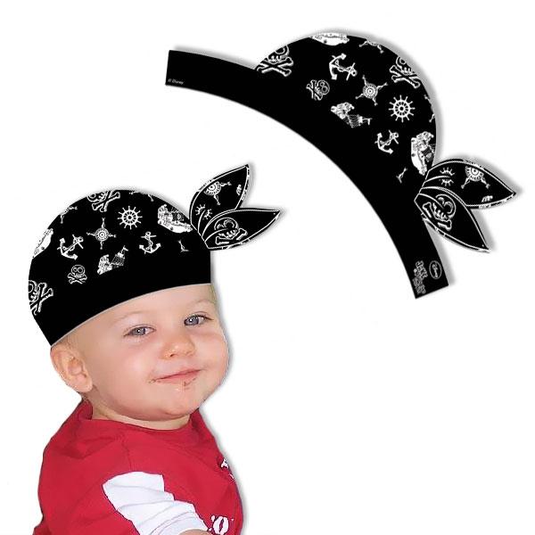Piratenhütchen im 4er Pack, Pappe, im Design eines Piratenkopftuchs