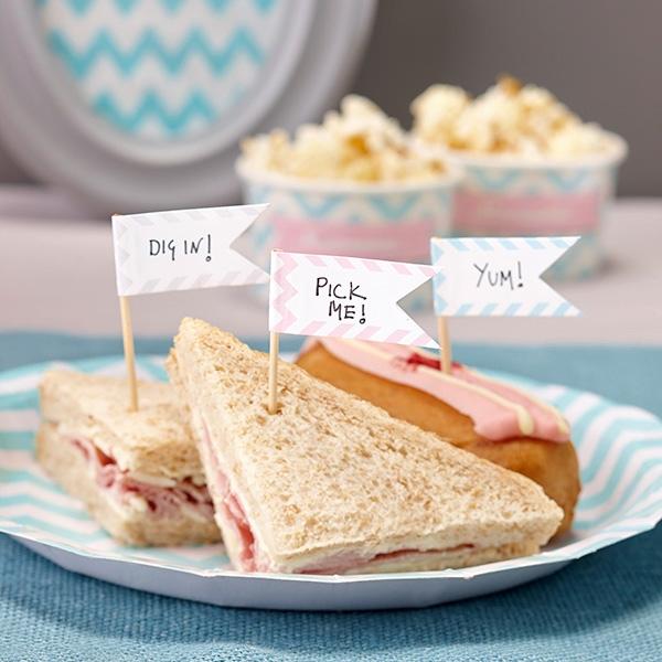Fähnchen-Dekopicker für Fooddeko zum selber Beschriften, 15er Pack