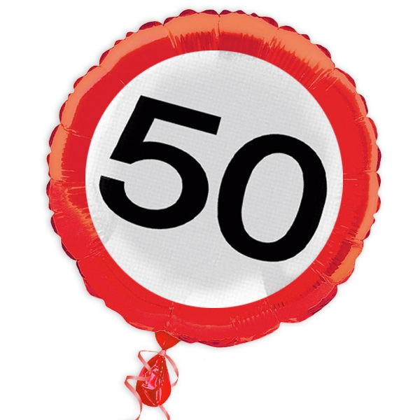 "Ballon ""Verkehrsschild"" zum 50. Geburtstag"