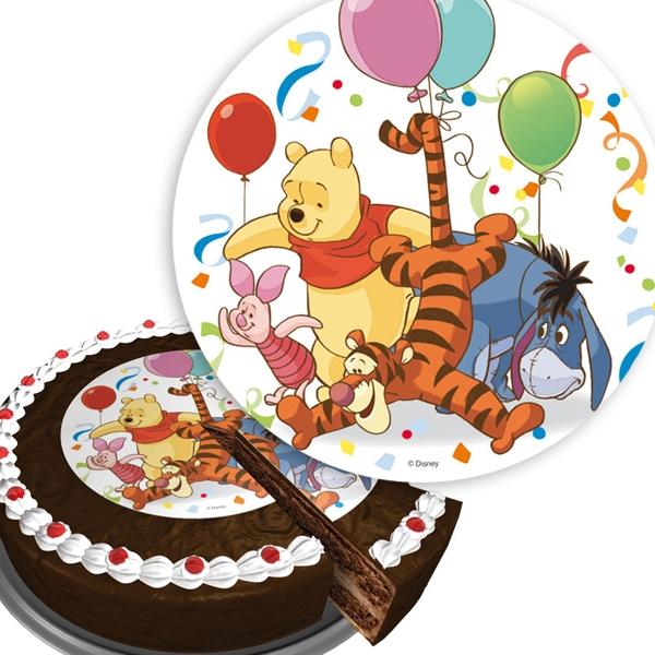 Winnie Puuh Aufleger für Tortendeko Kindergeburtstag, Geburtstag