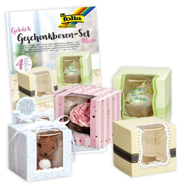 Geschenkbox Bastelset, 4 Boxen