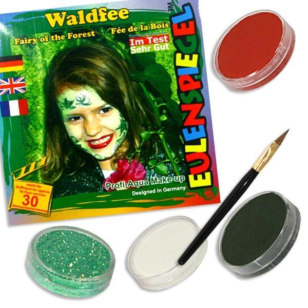 Schminkset für Waldfee, Feengesicht schminken +3 Schminkfarben Kinder Schminkset