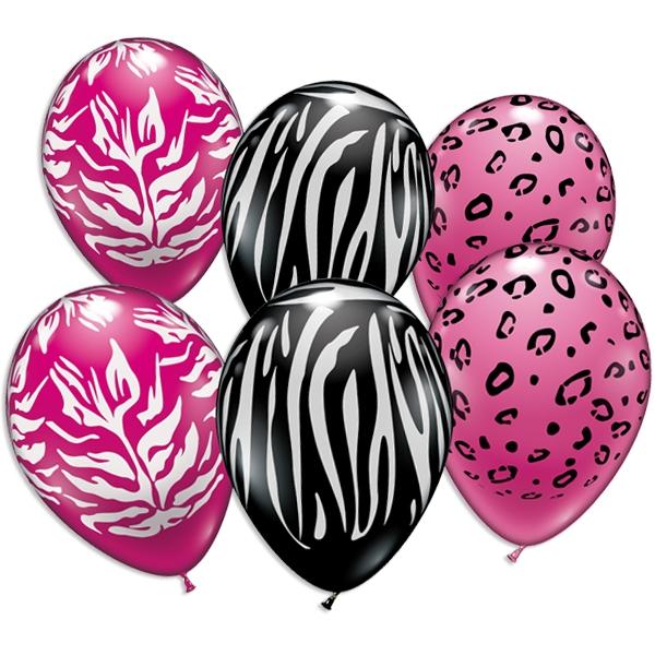 Animal Print Design, Tierfell, Ballons im 6er Pack