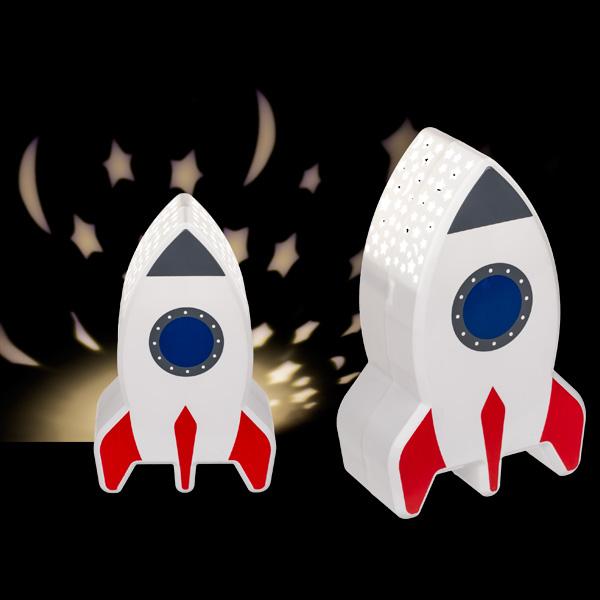 "LED-Nachtleuchte ""Rakete"" mit Sternenprojektor"