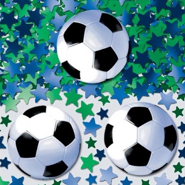 Fussballparty Konfetti 14 g = eine Hand voll, 2,5cm, tolle Fußballdeko