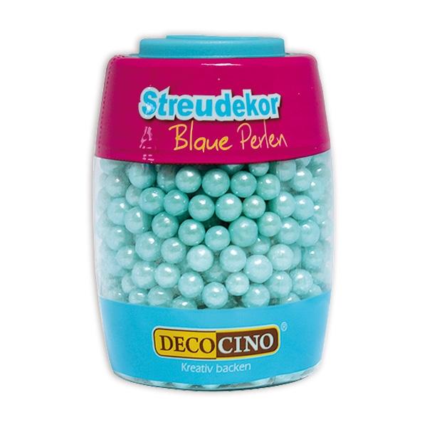 Zuckerperlen Blau, 65g, 5 mm, Streudekor für Geburtstagskuchen
