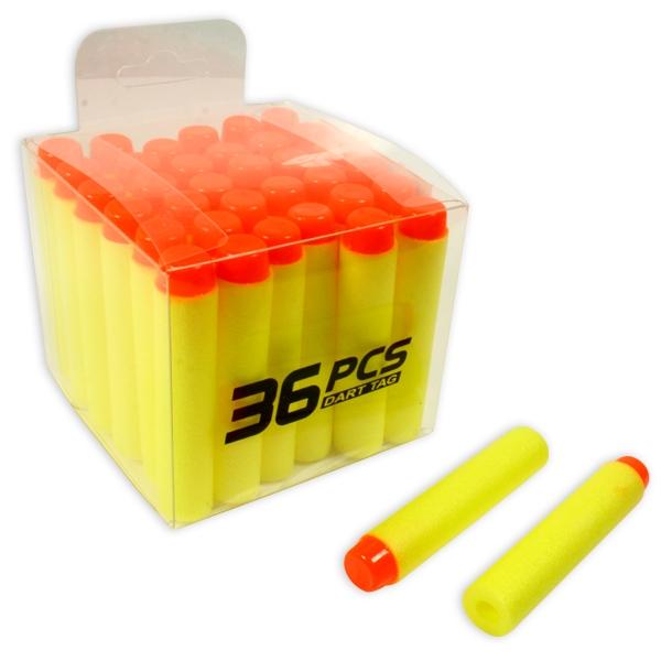 Softair Munition 36 Pfeile für Soft-Spielzeugpistolen, je 6,6 cm