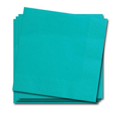 Papierservietten türkis 25cm, 20 Stück Partyservietten, zweilagig