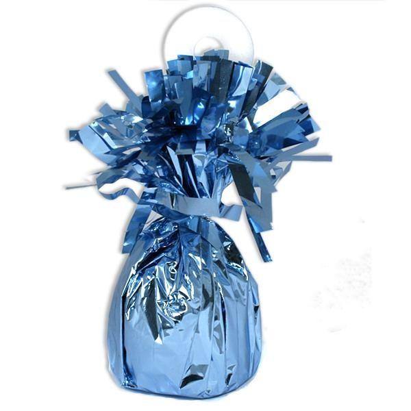 Ballongewicht blau Metallic 13cm zur Sicherung Ihrer Heliumballons, 1 Stk
