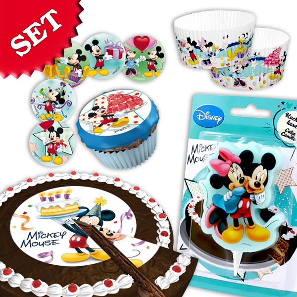 Mickey Maus Tortendekoset, 64tlg
