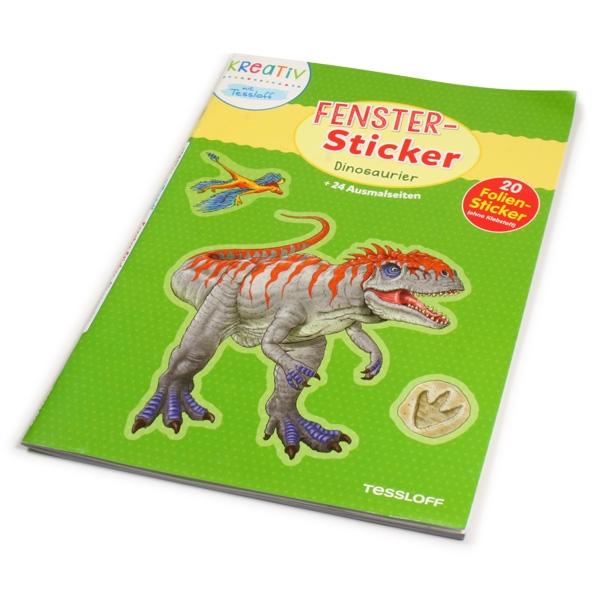 Dinosaurier, Fenster-Sticker und Ausmalbilder