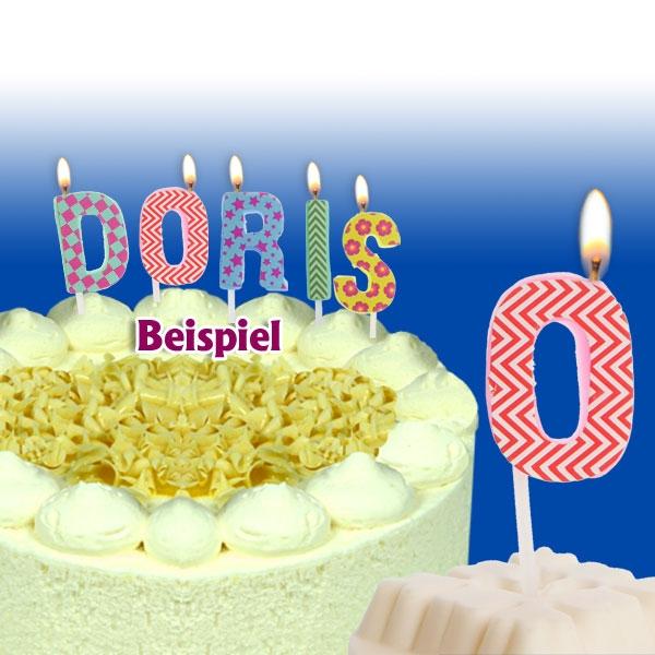 Mini Kerze Buchstabe O, 2,5cm, für Namen vom Geburtstagskind, 1 Stück