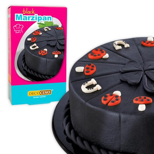 Decor Marzipan, schwarz, 200g, zum Modellieren und Überziehen