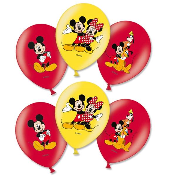 Luftballons Mickey Maus, 6er Pck,  Ø 27,5cm