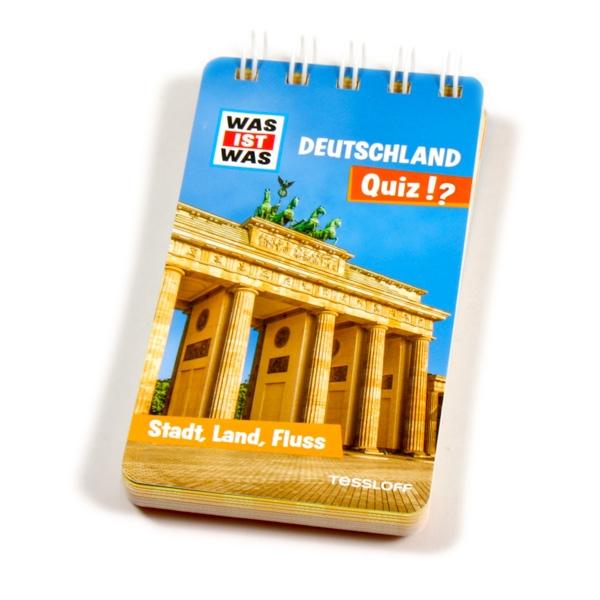 WAS IST WAS Quizblock-Deutschland mit praktischer Ringbindung, 1 Stück