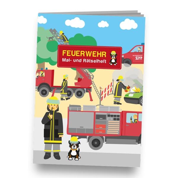 """Mal-und Rätselheft """"Feuerwehr"""", DIN A6"""