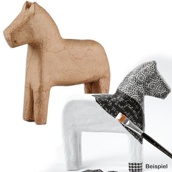 Figur Pferdchen, zum Bemalen und Gestalten, 14cm x 14cm, Bastelartikel
