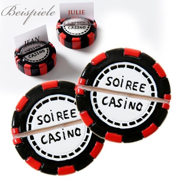 Casino Namenskarten-Halter, 2er Pack, 5cm x 1,5cm