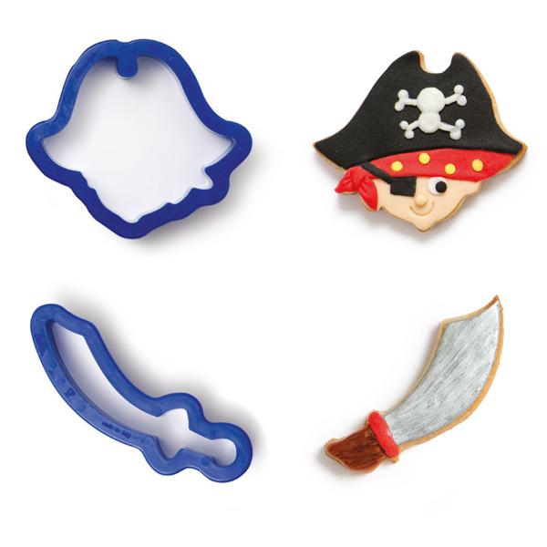 """Ausstechformen """"Pirat"""" im 2er Set, aus Kunststoff"""