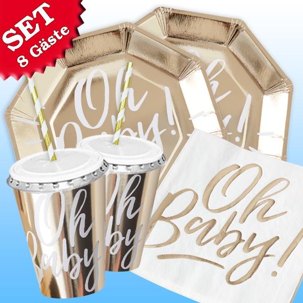 """""""Oh Baby!"""" - Basic Set, 60-teilig für bis zu 8 Gäste"""