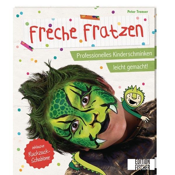 Schminkbuch -Freche Fratzen- mit vielen Bildern PLUS Schablone, umfangreiche Einführung