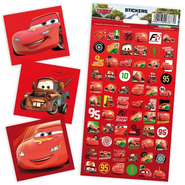 CARS-Sticker-Bogen, 66 Mini-Aufkleber für die Fans von Lightning Mc Queen & Hook