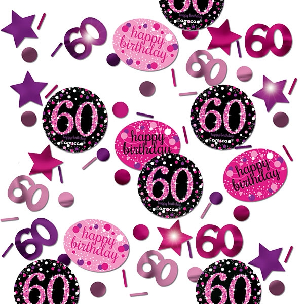 Sparkling Celebr. Konfetti Zahl 60 in pink-schwarz, 34g