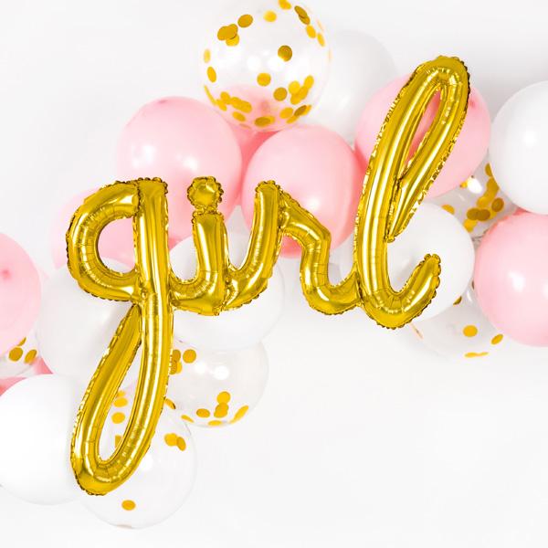"""Folienballon Schriftzug """"Girl"""", 77cm x 70cm"""