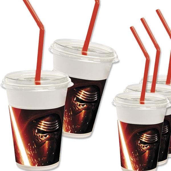 The Force Awakens Milchshake-Becher, 12 StarWars-Plastikbecher