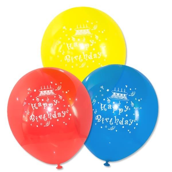 Happy Birthday Luftballons, 6er Pck, 22,8cm