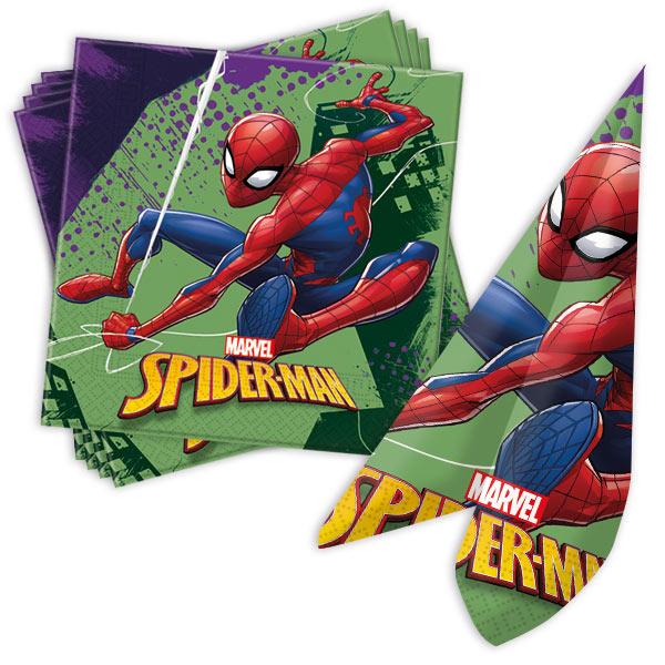 Spiderman Servietten, 20 Stk, 33cm x 33cm