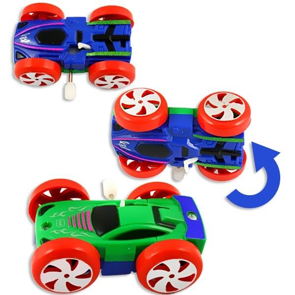 Überschlag-Aufziehauto 6×4cm, 1Stk., cooles Spielzeugauto, Plastik