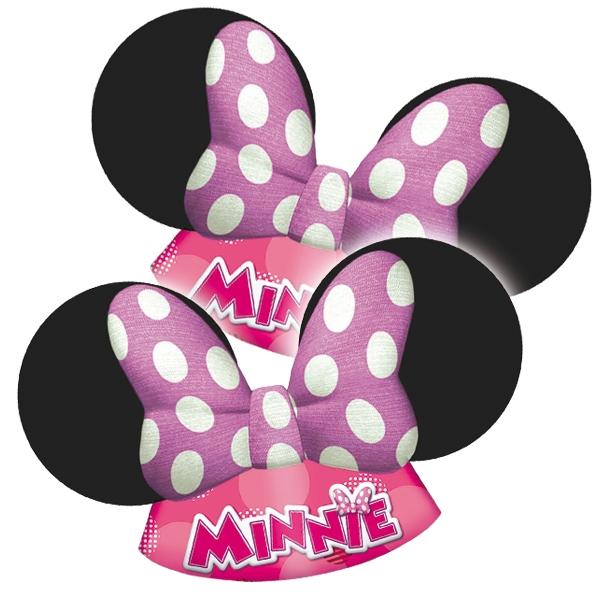 Minnie Mouse-Ohren im 6er Pack, witzige Partyhütchen für Mäuse