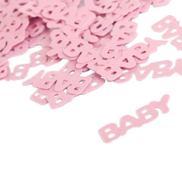 Baby-Motivkonfetti rosa, Streudeko für Babyparty Mädchen, 1 Tüte, 15 g