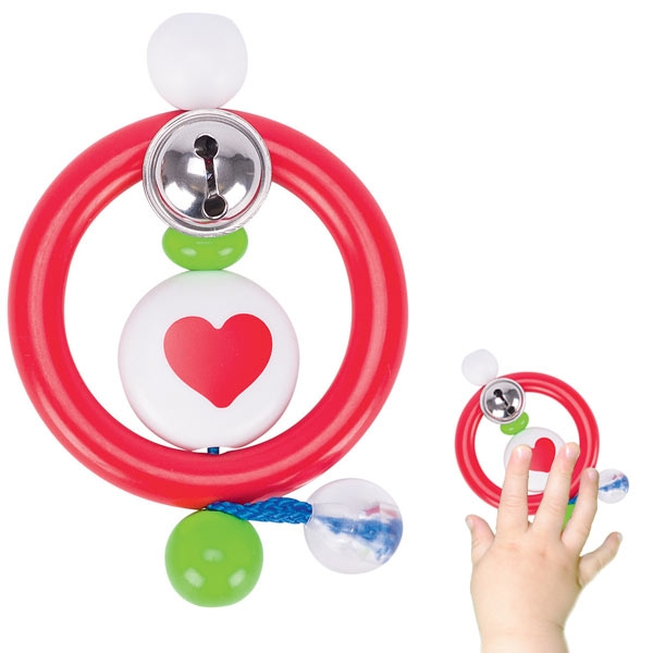Greifling Herz, hochwertiger Kunststoff, 1 Stk, Ø 5,5cm