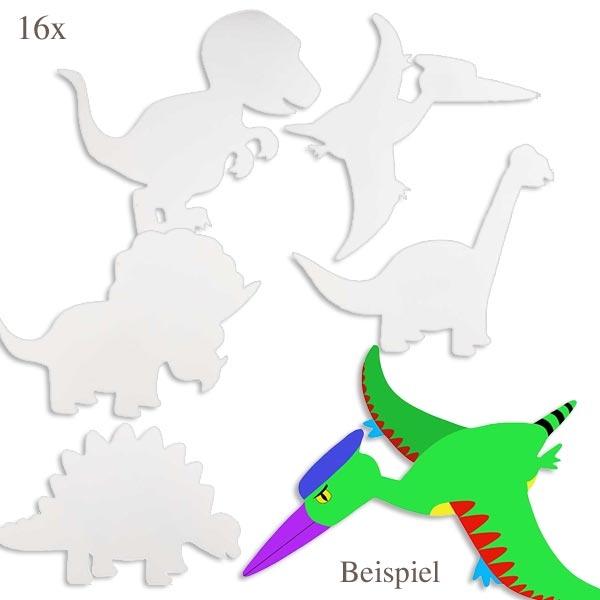 Dino-Motive zum Bemalen 16 Stk.