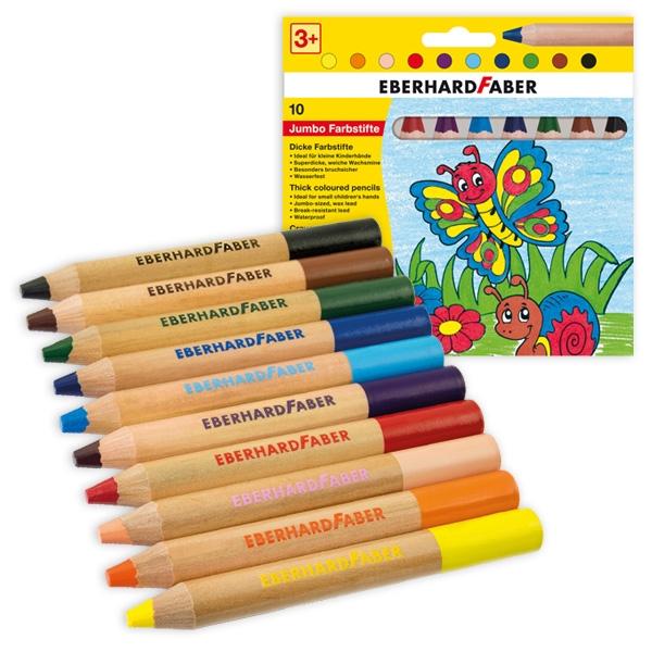 Buntstift Set, 12 JUMBO-Stifte, 12cm