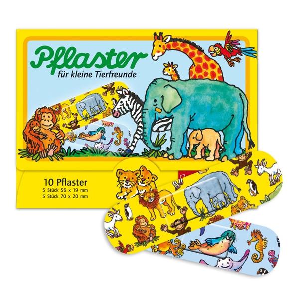Kinderpflaster Zootiere, niedliche Heftpflaster für Kinder, 10 Stück